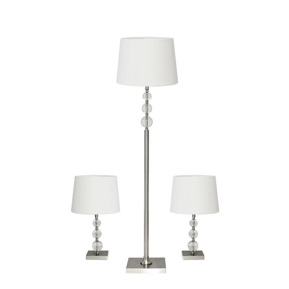 Olivia 60.5 in. Steel Lamp Bonus Pack