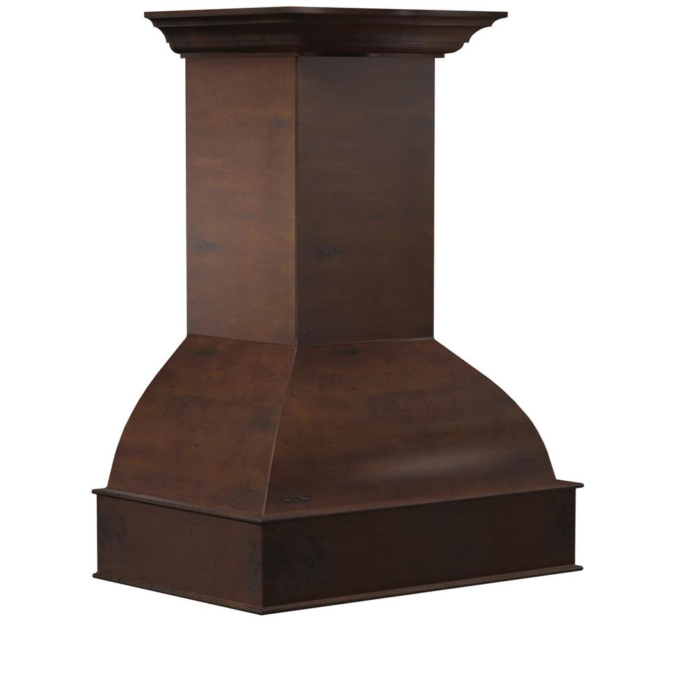 ZLINE Kitchen and Bath 36 in. Wooden Wall Mount Range Hood in Walnut and Hamilton - Includes 1200 CFM Motor