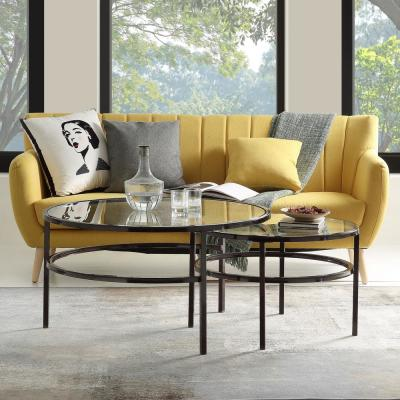 Black Nesting 2-Piece Coffee Table Set