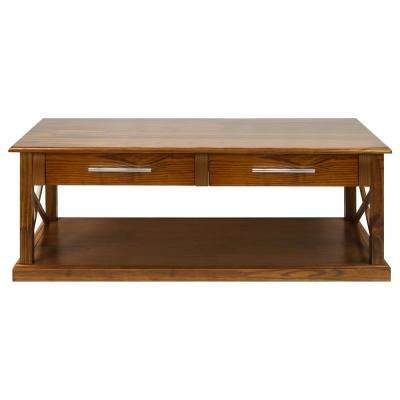 Bay View Warm Brown Coffee Table