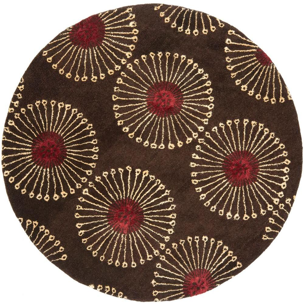 Safavieh Soho Coffee/Brown 6 ft. x 6 ft. Round Area Rug