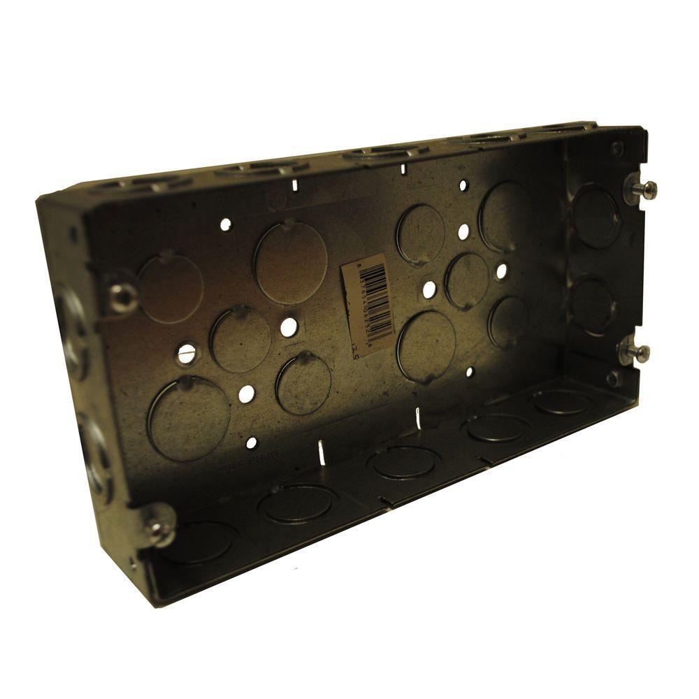 1 13 16 In Deep Multi Gang Welded Switch Box Silver