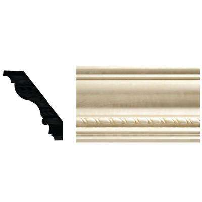 13/16 in. x 3-3/4 in. White Hardwood Crown Moulding