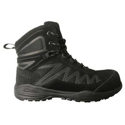 Breeze Mid Women 6 in. Size 11 Black Leather/Mesh Composite Toe Work Boot