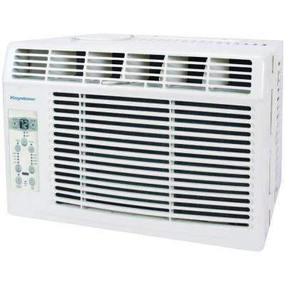 5,000 BTU 115-Volt Window-Mounted Air Conditioner with Follow Me LCD Remote Control