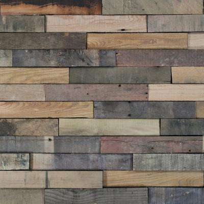Take Home Sample - Deco Planks Sunbaked Solid Hardwood Wall Planks - 5 in. x 7 in.