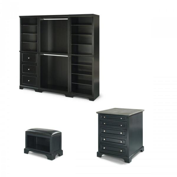 Home Styles Bedford Black Armoire 5531-7512