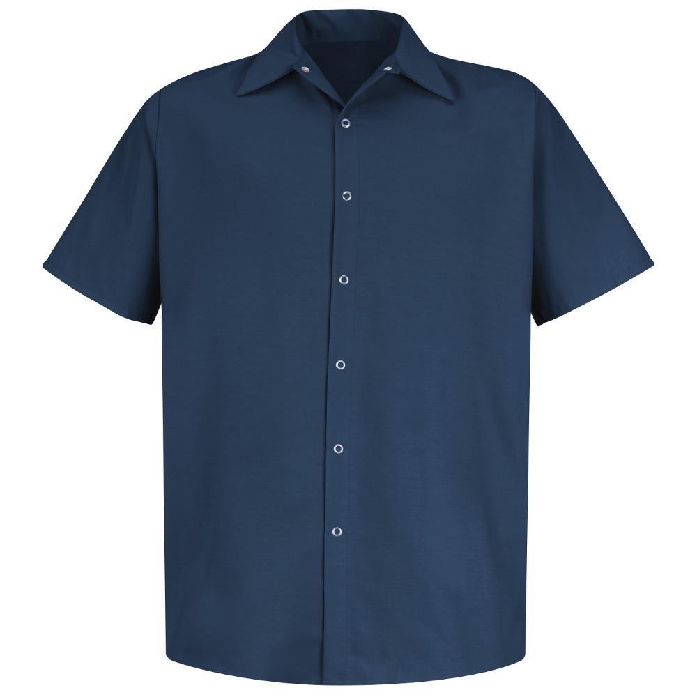 Men's Size 4XL Navy Specialized Pocketless Work Shirt