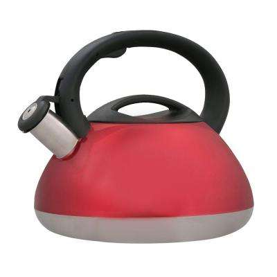 Sphere 12-Cup Stovetop Tea Kettle in Cranberry