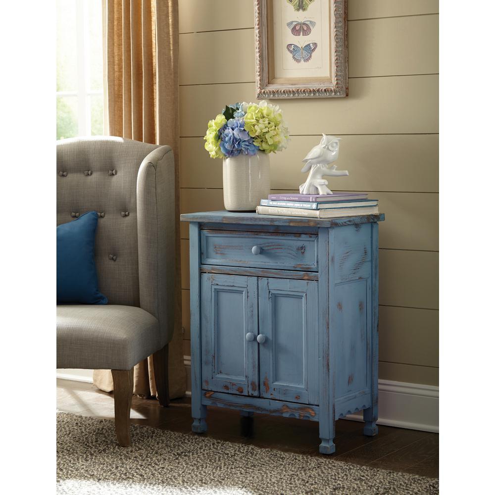 Blue Antique Accent Cabinet