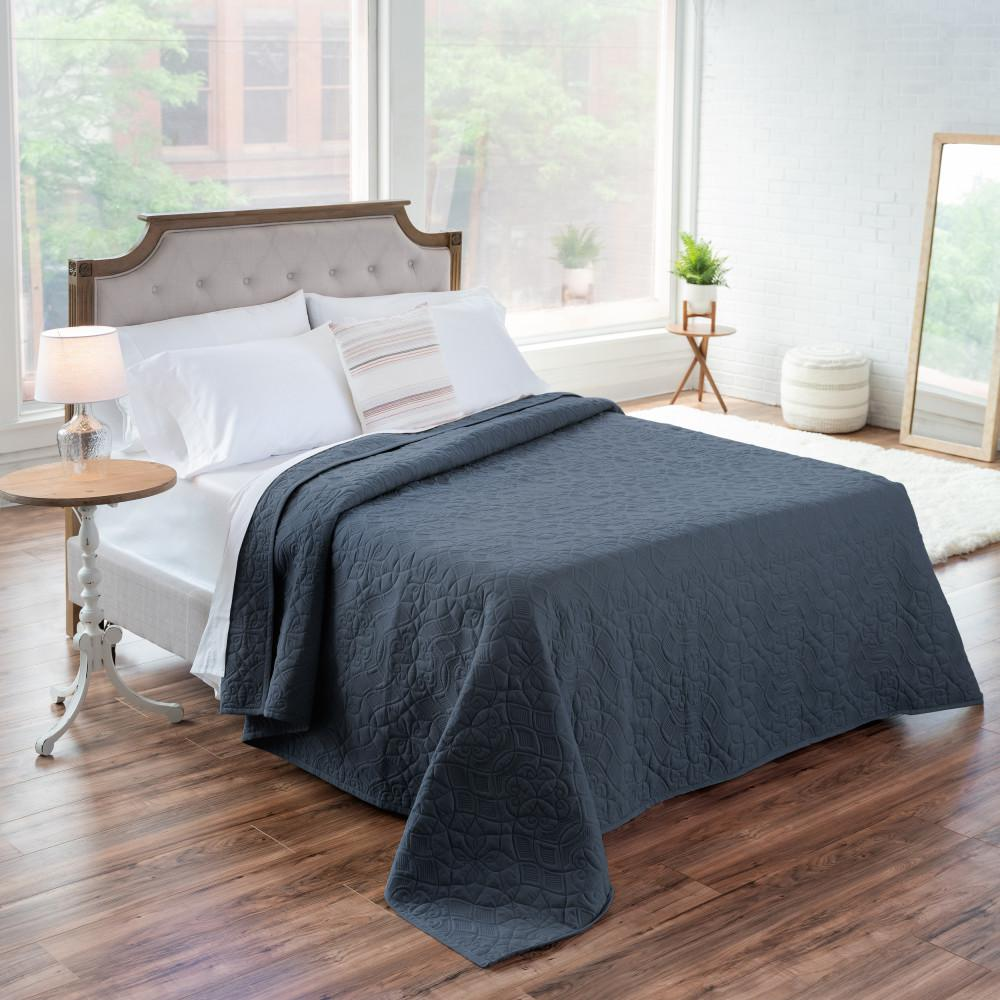 WELHOME The Aidan Cotton Slate Blue Full/Queen Quilt was $180.99 now $99.54 (45.0% off)