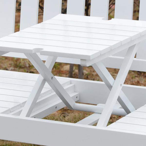 Bench With Middle Pop Up Foldable Table