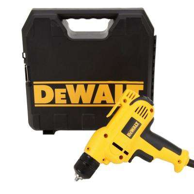 8 Amp 3/8 in. Variable Speed Reversing Mid-Handle Drill Kit with Keyless Chuck