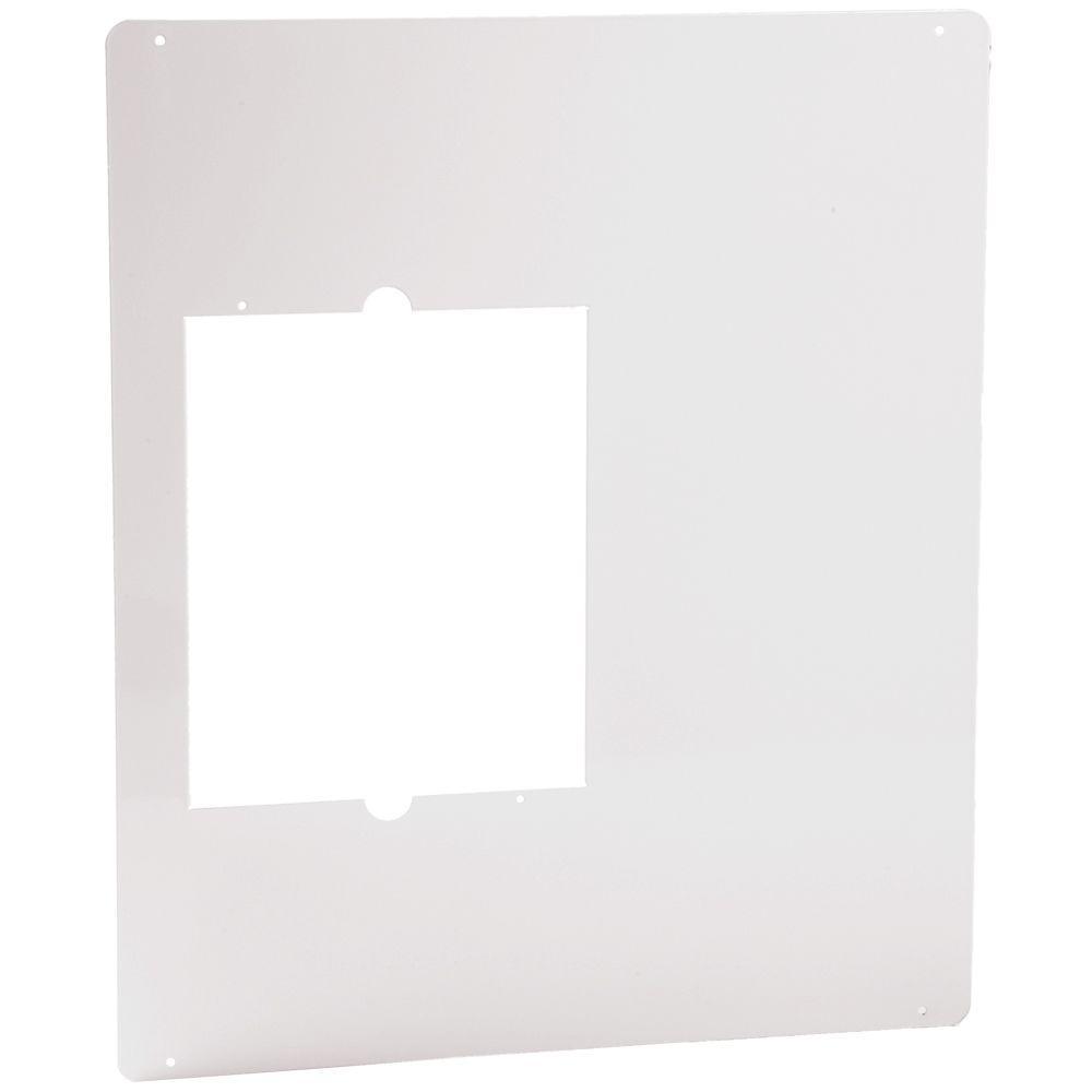 Cadet Com-Pak Plus/Max/Bath 18-1/2 in. W x 22 in. H Metal Adapter Plate White