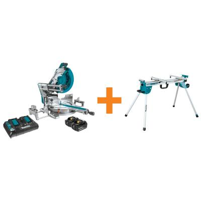 18-Volt X2 LXT (36V) Brushless 12 in. Dual-Bevel Sliding Compound Miter Saw with bonus Compact Folding Miter Saw Stand