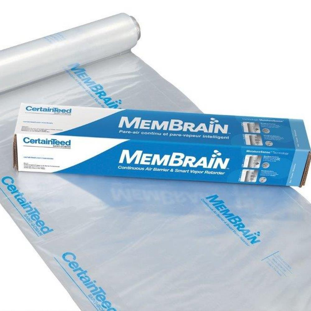 MemBrain 12 ft. x 100 ft. Air Barrier with Smart Vapor