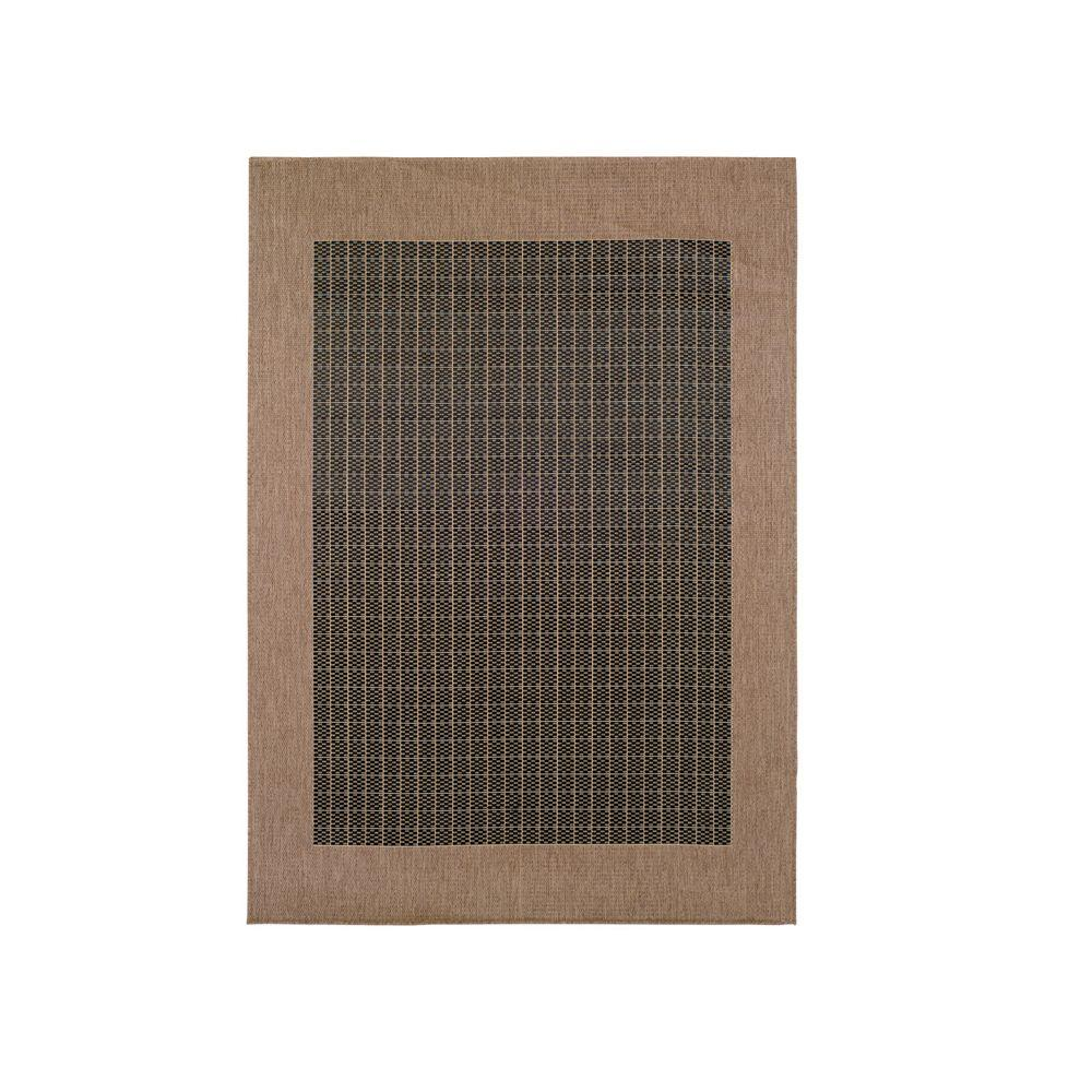 Home Decorators Collection Checkered Field Black 8 ft. 6 in. x 13 ft. Area Rug