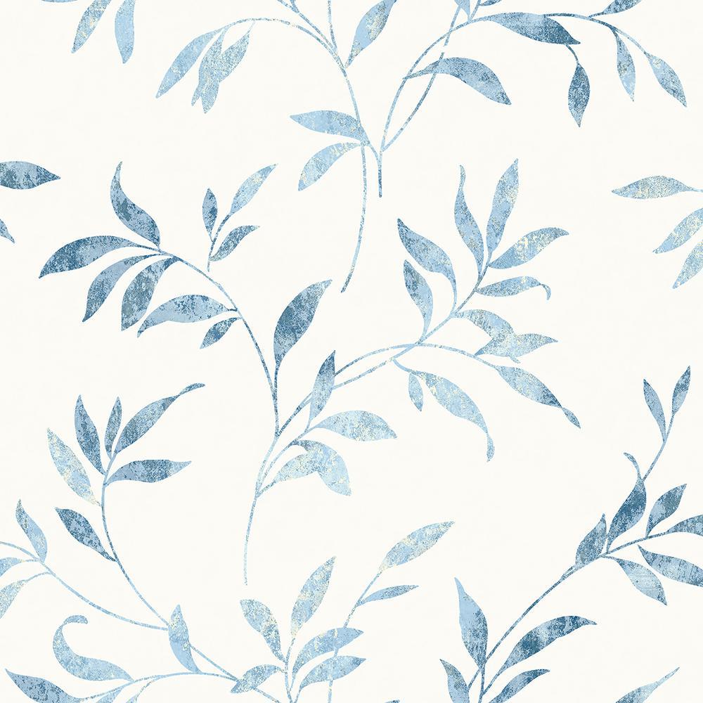 56.4 sq. ft. Sanibel Light Blue Trail Wallpaper