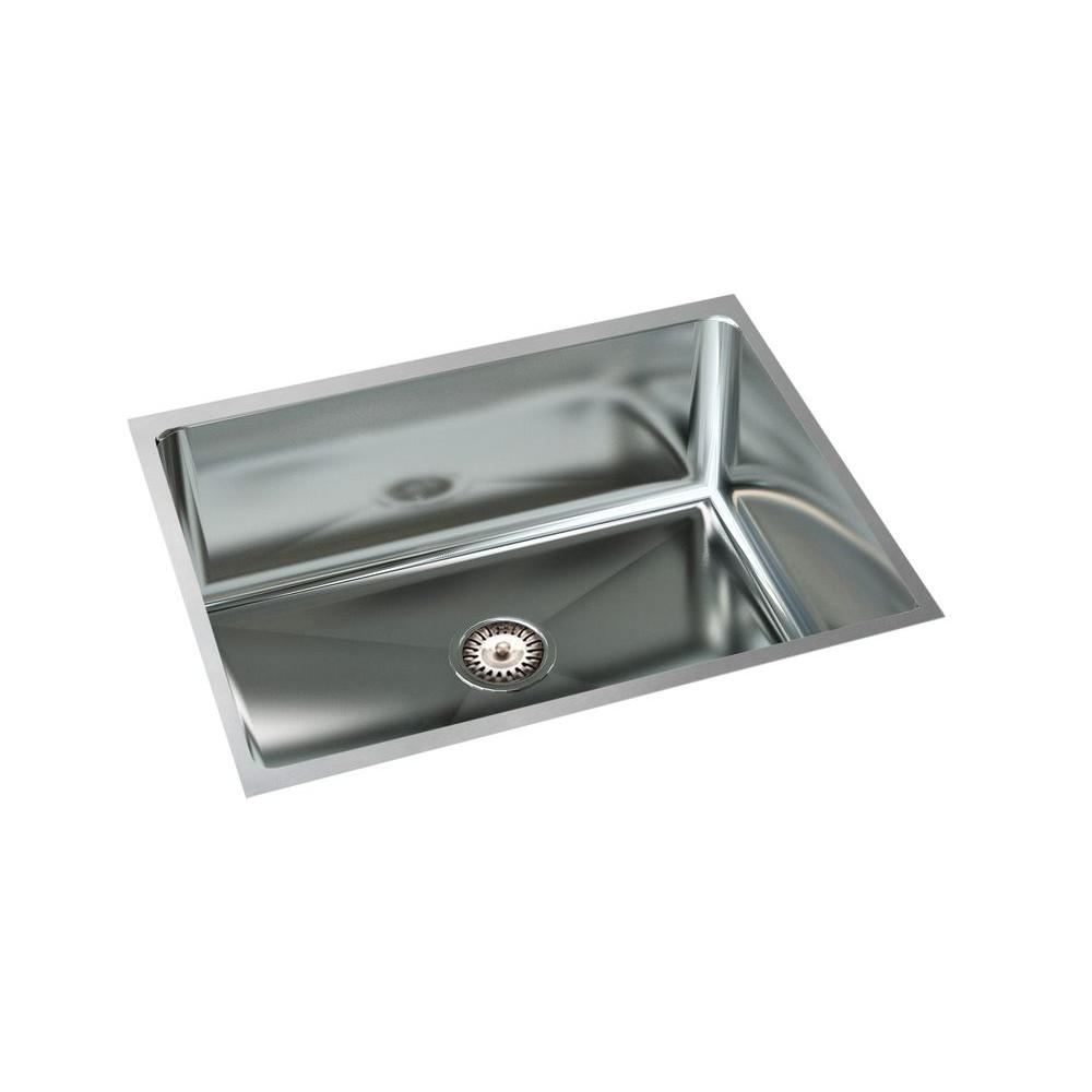 Filament design cantrio undermount stainless steel 23 in for Designer stainless steel sinks