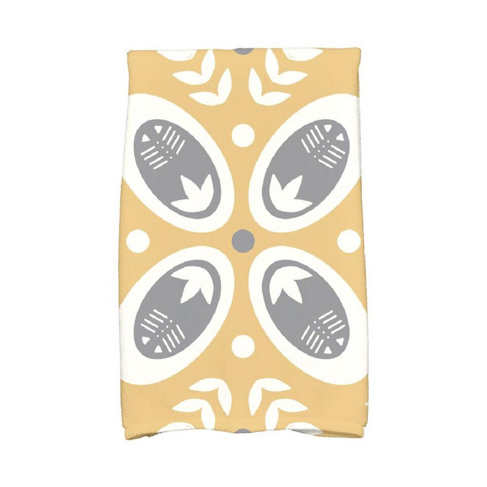 E by Design 16 in. x 25 in. Gold Tradition Holiday Geometric Print Kitchen Towel, Yellows/Golds Spice up your decor with stylish kitchen towels. E By Design's kitchen towel collection includes a variety of fashionable and aesthetic designs you're sure to love. Our kitchen towels are just what you need to complete your kitchen decor. Color: Yellows / Golds.