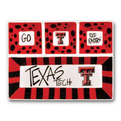 Texas Tech Ceramic 4 Section Tailgating Serving Platter