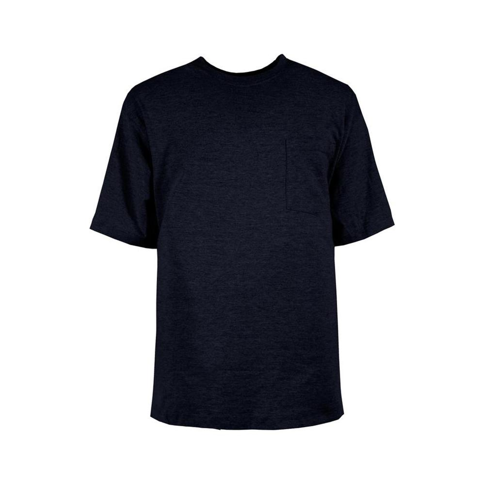 bfef714ed2e Berne Men s 4 XL Tall Navy Cotton and Polyester Heavy-Weight Pocket T-Shirt