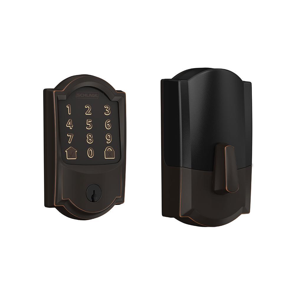 Camelot Encode Smart Wifi Door Lock with Alarm in Aged Bronze