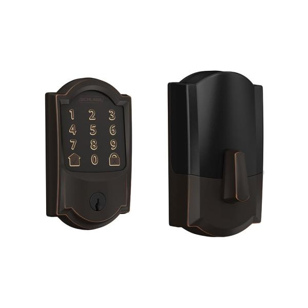 Camelot Encode Smart Wifi Door Lock with Alarm in Aged Bronze