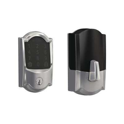 Camelot Bright Chrome Encode Smart Wi-Fi Door Lock with Alarm