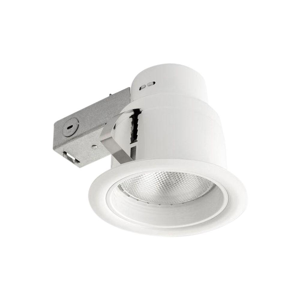 Globe electric 5 in white recessed outdoor regressed baffle white recessed outdoor regressed baffle lighting kit with flood light 4 pack 90961 the home depot arubaitofo Gallery
