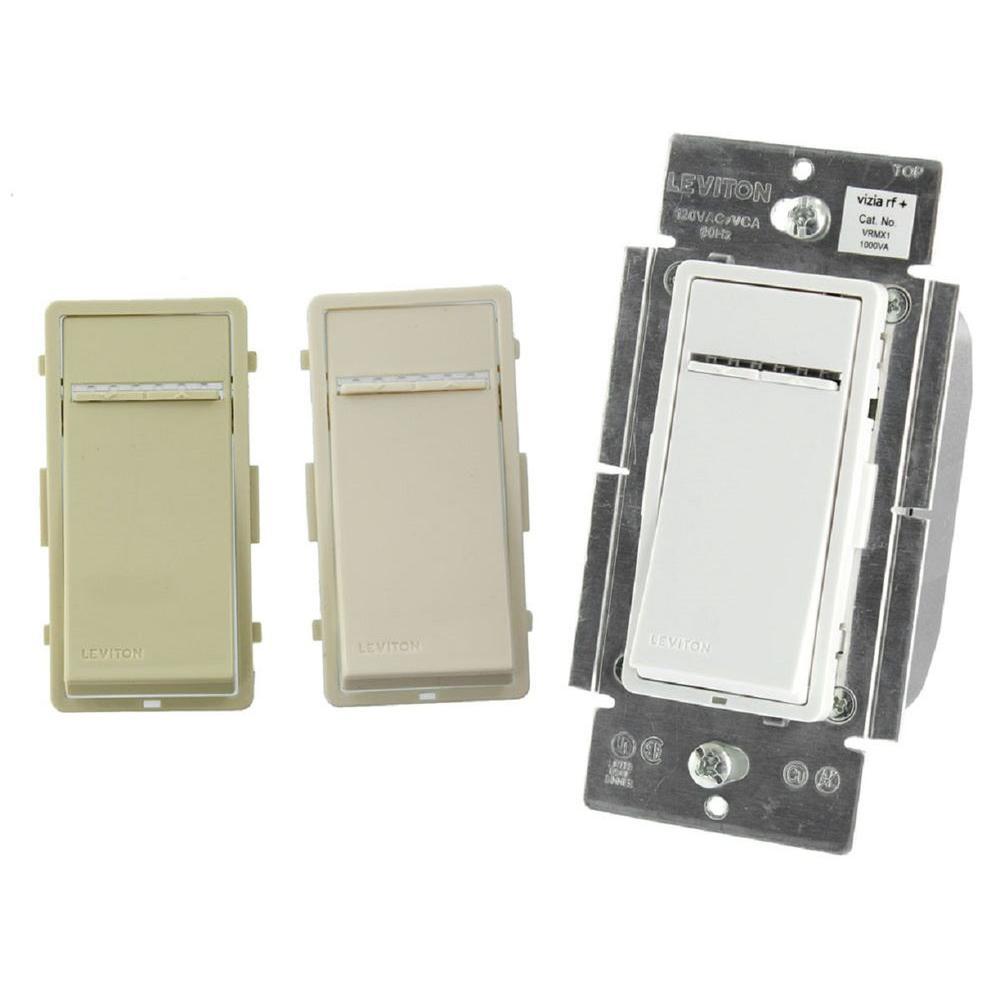1000-Watt Vizia RF ZWave Magnetic Low Voltage Dimmer - White/Ivory/Light Almond