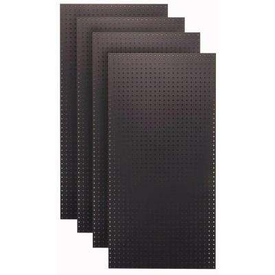 1/4 in. Custom Painted Jet Black Pegboard Wall Organizer (Set of 4)