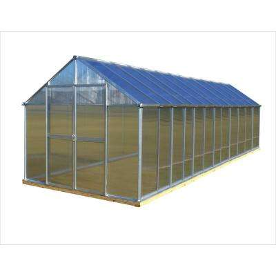 8 ft. x 24 ft. Aluminum Finish Greenhouse