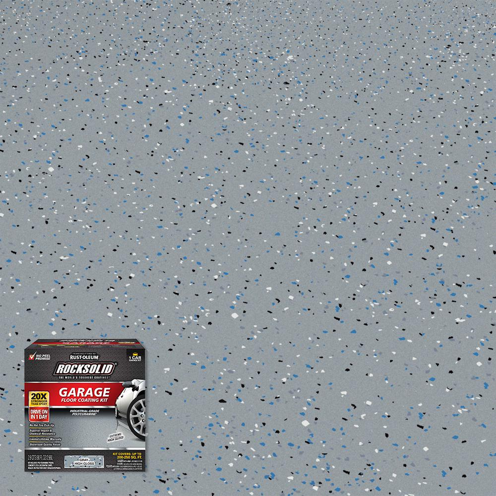 Rust-Oleum RockSolid 90 oz. Gray Polycuramine 1 Car Garage Floor Kit