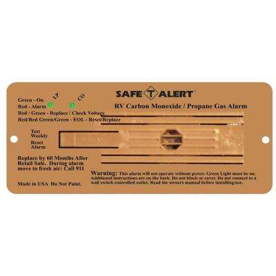 Safe T Alert 35 Series Dual LP/CO Alarm Flush Mount in Brown