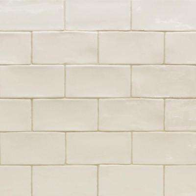 Catalina Vanilla 3 in. x 6 in. x 8 mm Polished Ceramic Subway Wall Tile (5.38 sq.ft./case)
