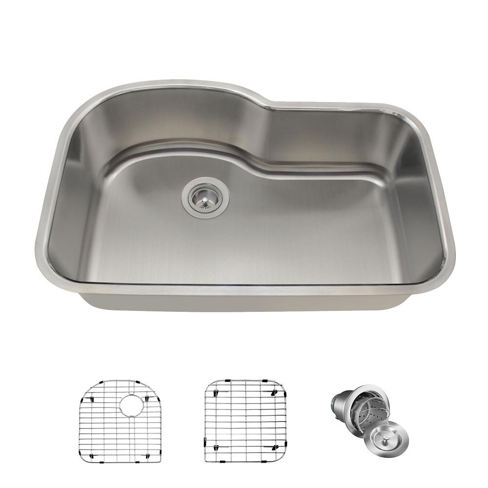 MR Direct All-in-One Undermount Stainless Steel 31 in. Single Bowl ...