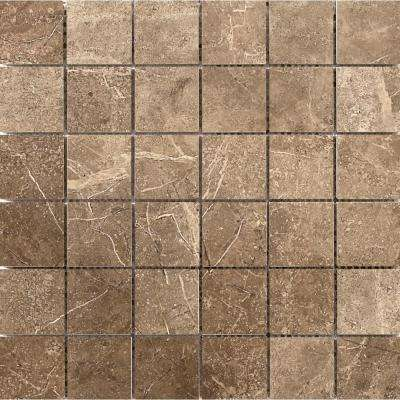 Realm Region 12.95 in. x 12.95 in. x 8mm Ceramic Mesh-Mounted Mosaic Tile (1.17 sq. ft.)