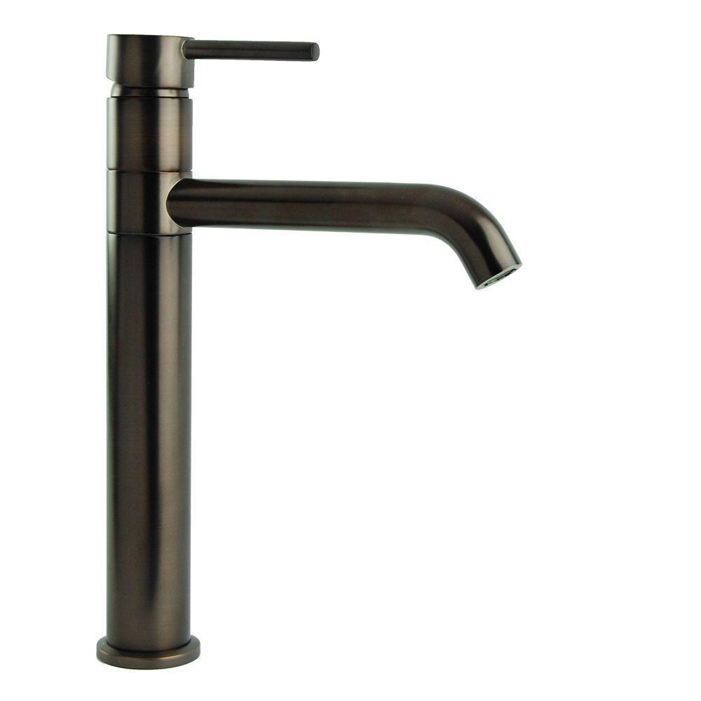 Single Hole Single-Handle Swivel Arm Euro Vessel Bathroom Faucet in Oil Rubbed Bronze