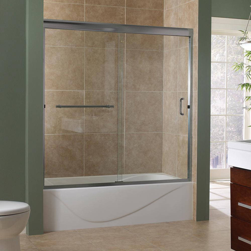 Foremost Marina 60 In. X 60 In. Semi Framed Sliding Tub Door In