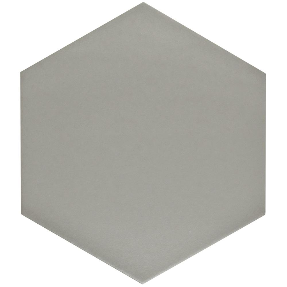Merola Tile Textile Hex Silver 8-5/8 in. x 9-7/8 in. Porcelain Floor and Wall Tile (11.56 sq. ft. / case)