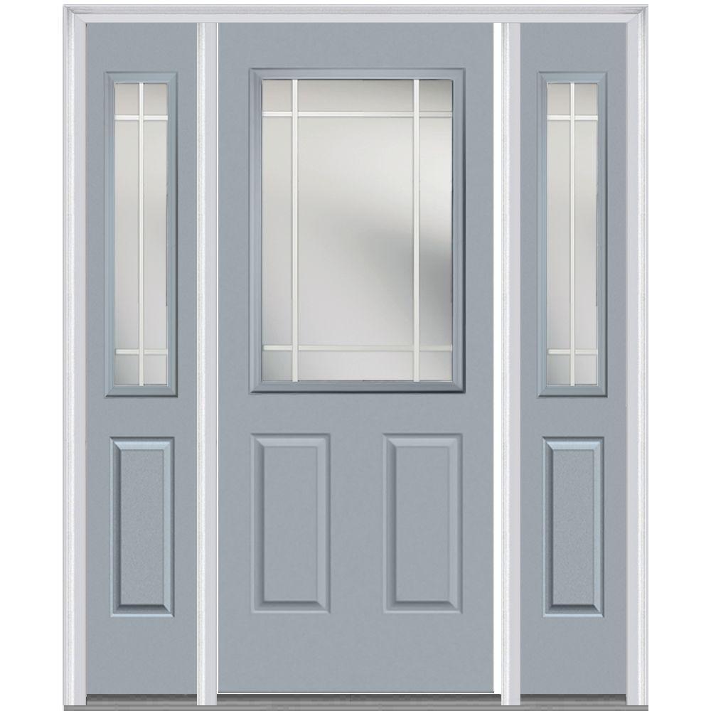 MMI Door 64 in. x 80 in. Internal Grilles Right-Hand Insw...