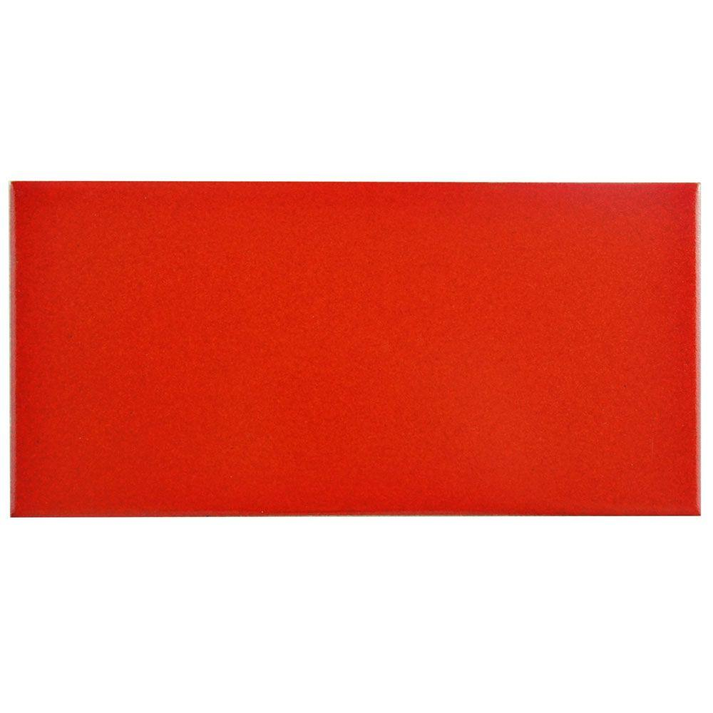 Merola Tile Projectos Vermelho Matte 3-7/8 in. x 7-3/4 in. Ceramic Floor and Wall Tile (11.46 sq. ft. / case)