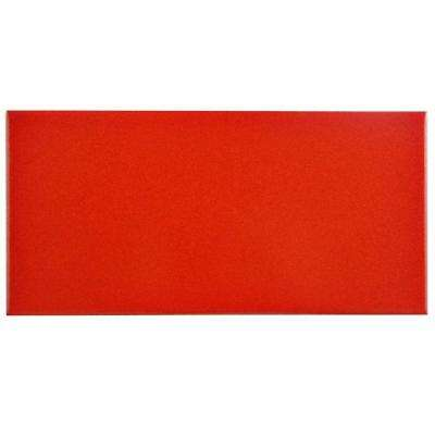 Projectos Vermelho Matte 3-7/8 in. x 7-3/4 in. Ceramic Floor and Wall Tile (10.76 sq. ft. / case)