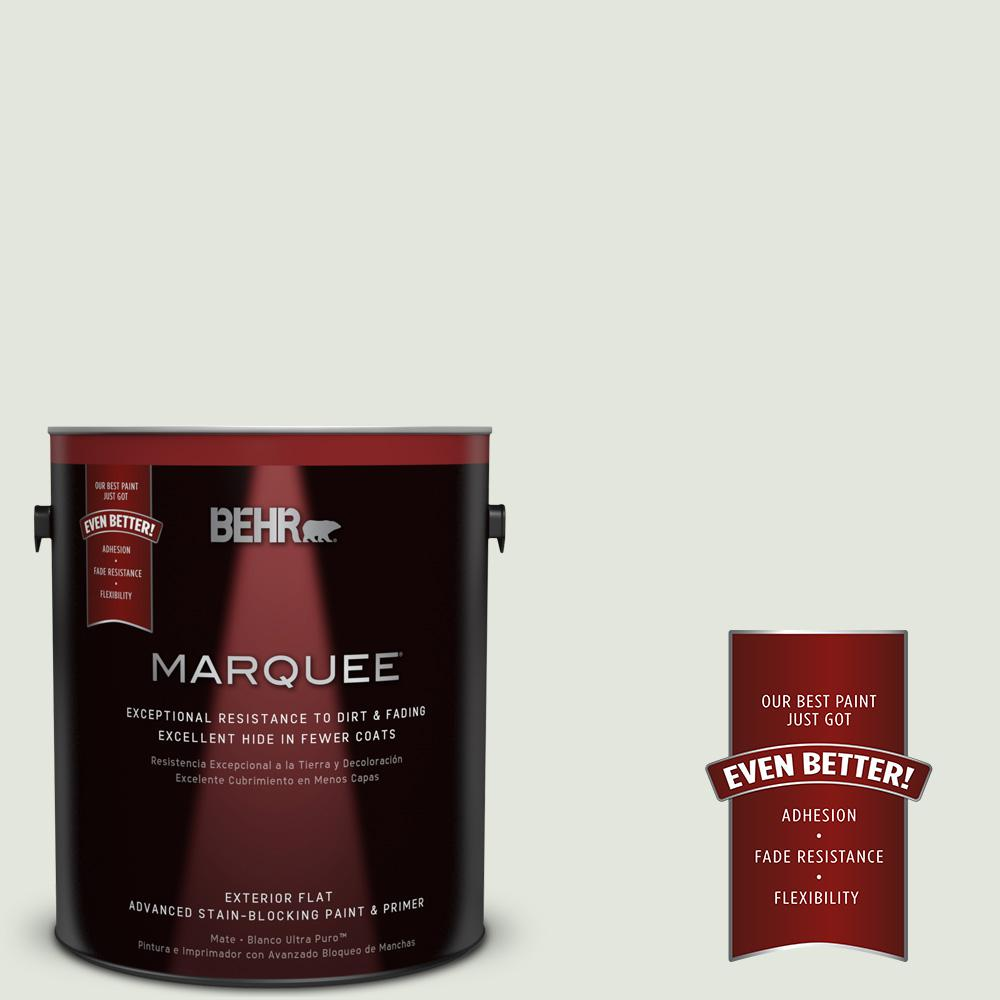 1-gal. #BL-W6 Whispering Waterfall Flat Exterior Paint