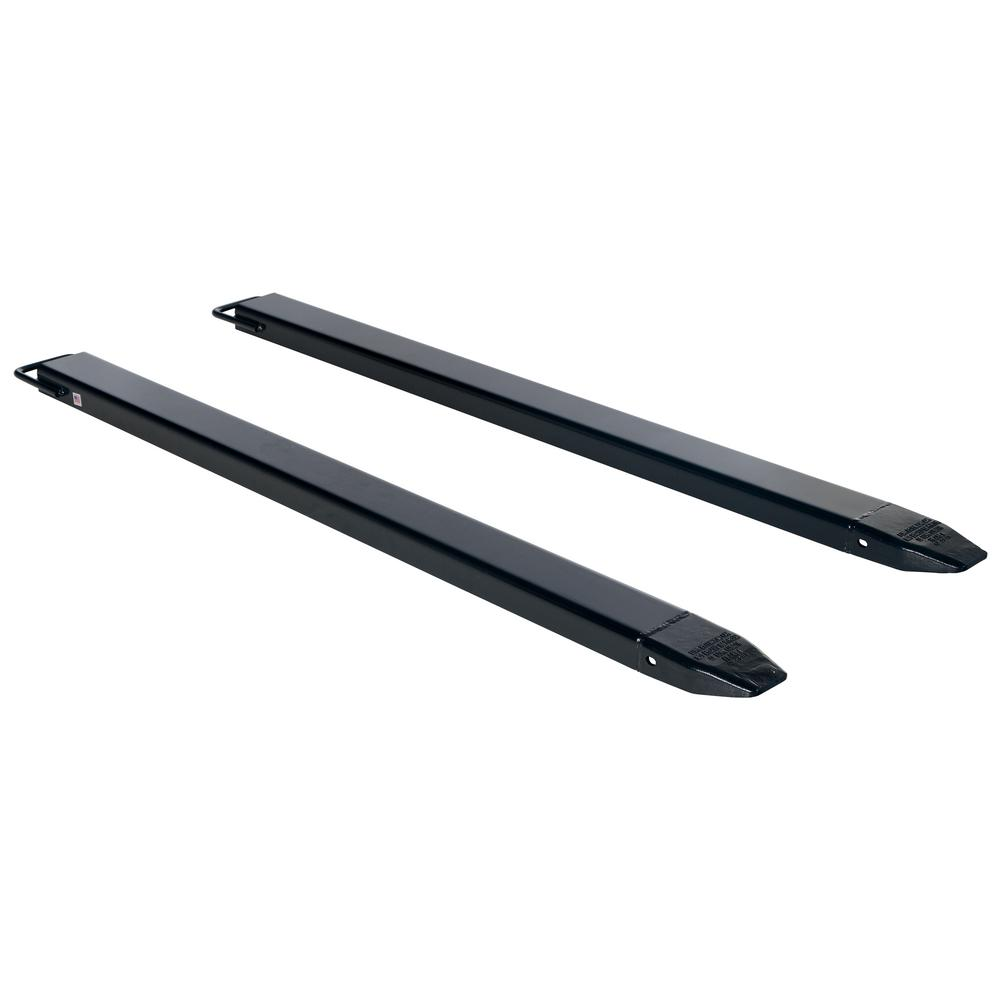 63 in. x 4 in. Black Pair of Fork Extensions