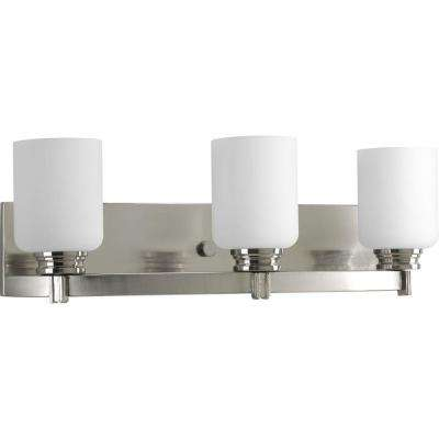 Orbitz Collection 3-Light Brushed Nickel Vanity Light