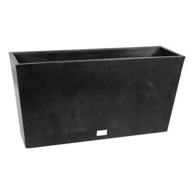 Midori 39 in. Black Trough Plastic Planter