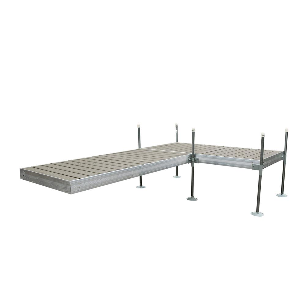 Tommy Docks 12 ft. L-Style Aluminum Frame with Decking Complete Dock Package