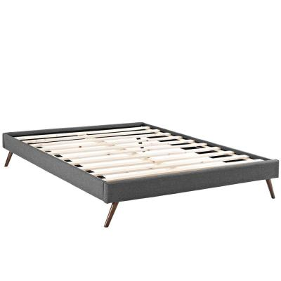 Loryn Gray King Bed Frame with Round Splayed Legs